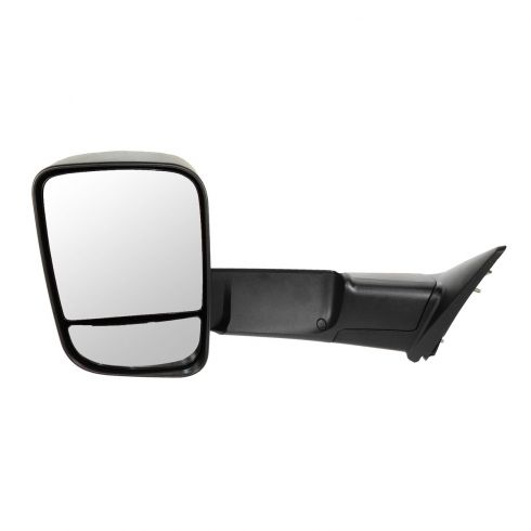 09-12 Dodge Ram 1500 (exc Mega Cab); 10-12 Dodge 2500 3500 Manual Textured Tow (Flip Up) Mirror LH
