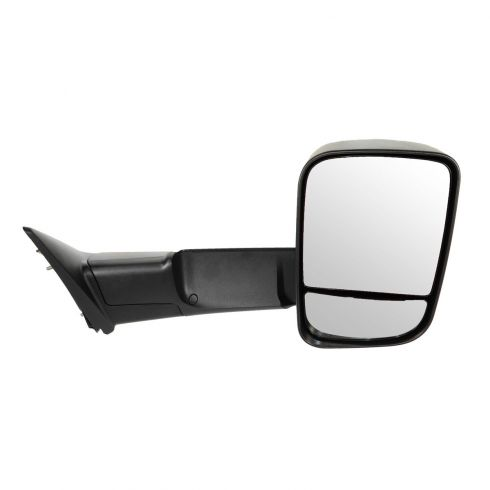 09-12 Dodge Ram 1500 (exc Mega Cab); 10-12 Dodge 2500 3500 Manual Textured Tow (Flip Up) Mirror RH
