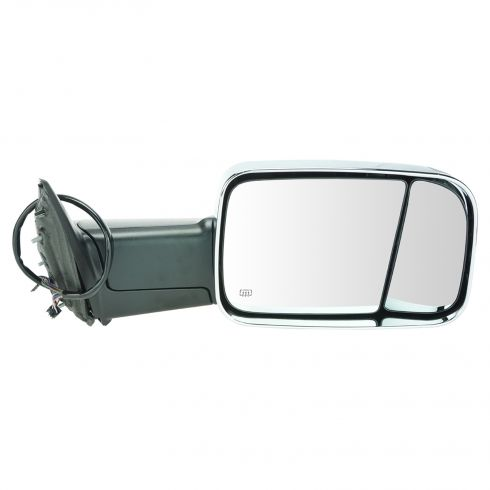 12 Ram 1500, 2500, 3500 Power Heated Puddle Light Turn Signal Memory Chrome Tow (Flip Up) Mirror RH