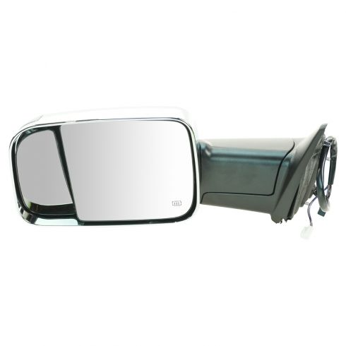 09-11 Dodge Ram 1500 (exc Mega Cab); 10-11 2500 3500 Power Htd TS PL Chrme Cap Tow Upgrade Mirror LH
