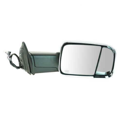 09-11 Dodge Ram 1500 (exc Mega Cab); 10-11 2500 3500 Power Htd TS PL Chrme Cap Tow Upgrade Mirror RH