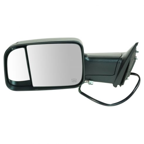 12 Ram 1500, 2500, 3500 Power Heated Puddle Light Turn Signal Texured Black Tow (Flip Up) Mirror LH