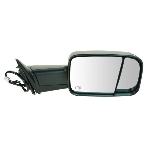 12 Ram 1500, 2500, 3500 Power Heated Puddle Light Turn Signal Texured Black Tow (Flip Up) Mirror RH