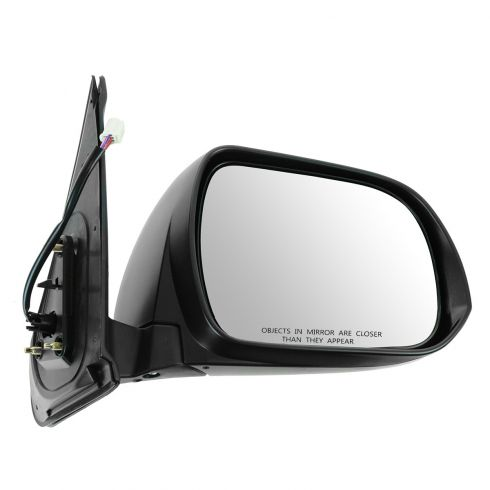 12-13 Toyota Tacoma Power w/Turn Signal Black w/Chrome Cap Mirror RH