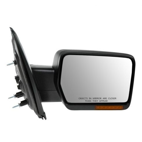09-10 Ford F150 Power, Heated, w/Turn Signal Black Textured Mirror RH