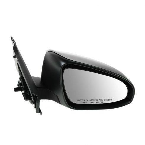 12-13 Toyota Yaris Hatchback Manual Textured Black Mirror RH