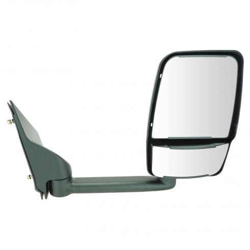 03-11 Chevy Express, GMC Savana Van Single Arm, Dual Glass Textured Black Manual Tow Mirror RH