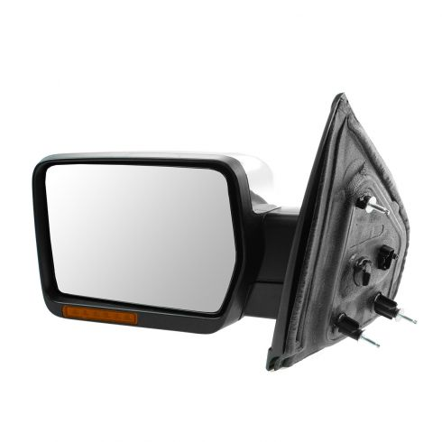 09-10 Ford F150 Power, Heated, Power Folding, w/Turn Sig, Memory, Puddle Light Chrome Mirror LH