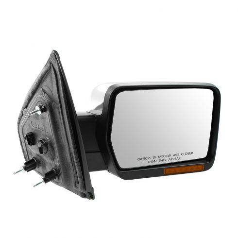 09-10 Ford F150 Power, Heated, Power Folding, w/Turn Sig, Memory, Puddle Light Chrome Mirror RH