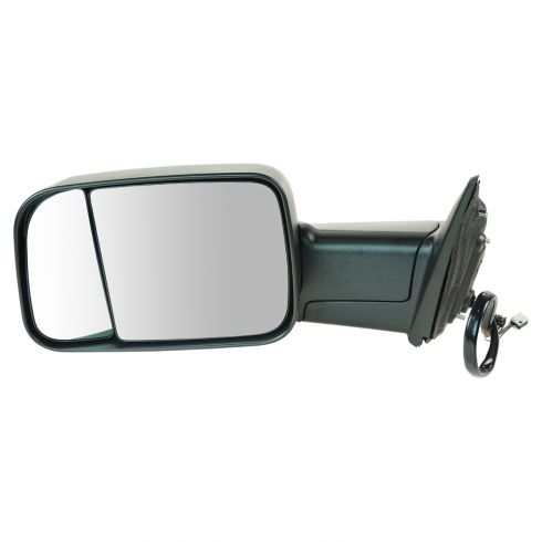 13 Ram 1500, 2500 Power, Heated, Turn Signal, Puddle Light, w/Temp Sen, Textured Black Tow Mirror LH