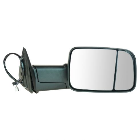 13 Ram 1500, 2500 Power, Heated, Turn Signal, Puddle Light, Textured Black Tow Mirror RH