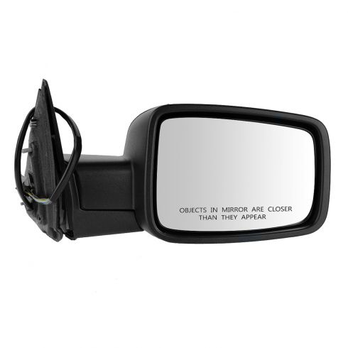 13 Ram 1500, 2500 Power Folding, Htd, Turn Signal, Puddle Light w/Textured Black Cover Mirror RH