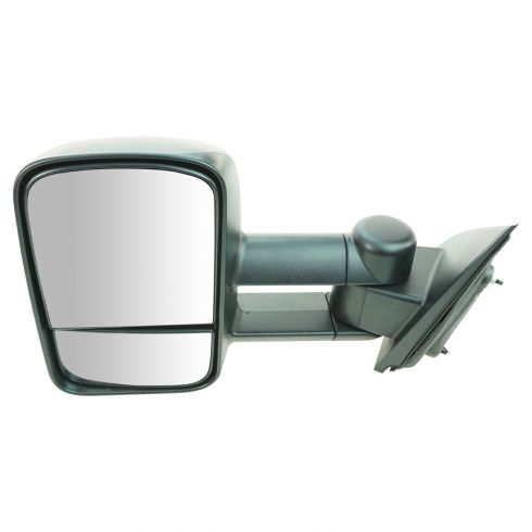14-15 Chevy Silverado, GMC Sierra 1500, 2500, 3500 Textured Black Manual Telescoping Tow Mirror LH