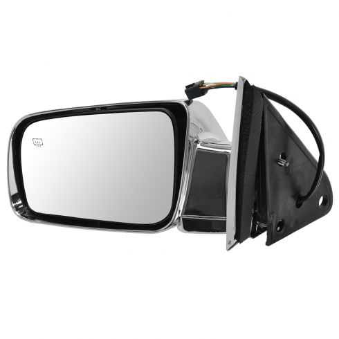 98-99 Suburban, Tahoe, Yukon Power Heated Chrome Mirror LH