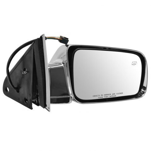 98-99 Suburban, Tahoe, Yukon Power Heated Chrome Mirror RH