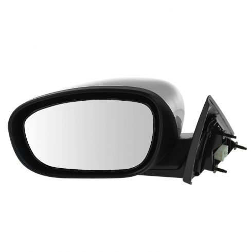 06-10 Chrysler 300; 05-08 Dodge Magnum Manual Folding Power Heated Black w/Chrome Cap Mirror LH