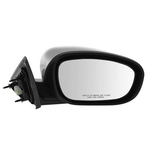 06-10 Chrysler 300; 05-08 Dodge Magnum Manual Folding Power Heated Black w/Chrome Cap Mirror RH