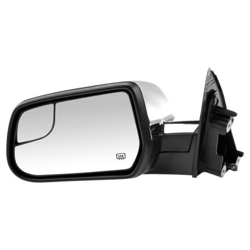 10-15 Equinox, Terrain Power Heated Textured Black w/Chrome Cap Mirror w/Convex Insert LH