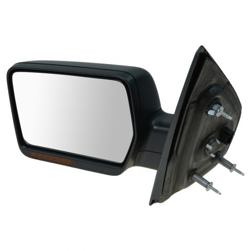 07-08 Ford F150, Lincoln Mark LT Power Heated w/Turn Signal Text Cap Manual Folding Mirror LH (Ford)