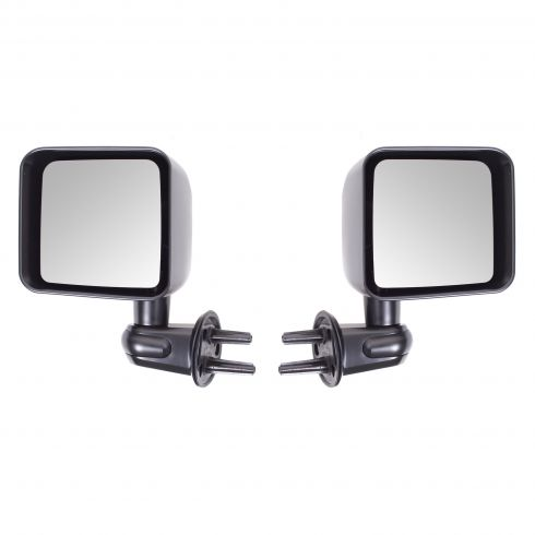 Door Mirror Kit, Black, 07-14 Jeep Wrangler (JK)