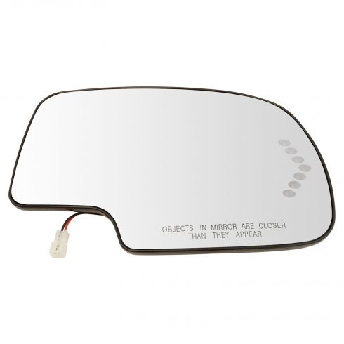 03-07 GM Full Size PU & SUV Heated Turn Signal w/ Back Plate Mirror Glass RH