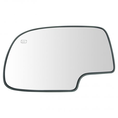 99-07 GM Full Size PU, SUV Power Heated Mirror Glass w/Backing Plate LH