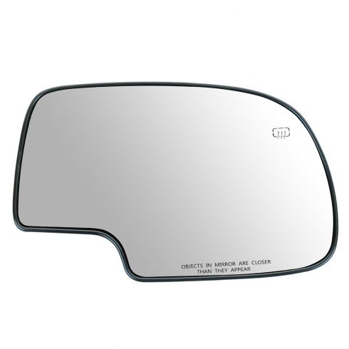 99-07 GM Full Size PU, SUV Power Heated Mirror Glass w/Backing Plate RH