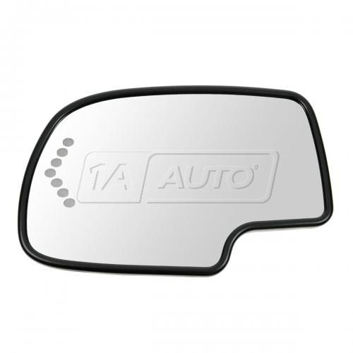 03-07 GM Full Size PU & SUV Heated Turn Signal Auto Dimming w/ Back Plate Mirror Glass LH