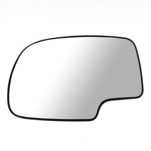 99-02 GM Full Size PU, SUV Power Mirror Glass (w/3 15/16 Diag) w/Backing Plate LH