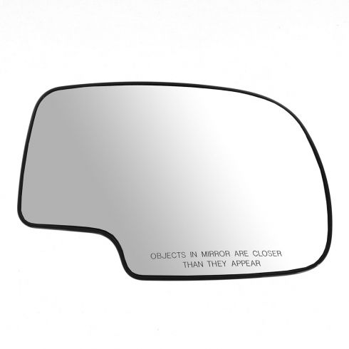 99-02 GM Full Size PU, SUV Power Mirror Glass (w/3 15/16 Diag) w/Backing Plate RH