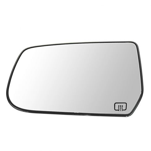 10-11 Chevy Equinox, GMC Terrain Power Heated Mirror Glass w/Backing Plate LH