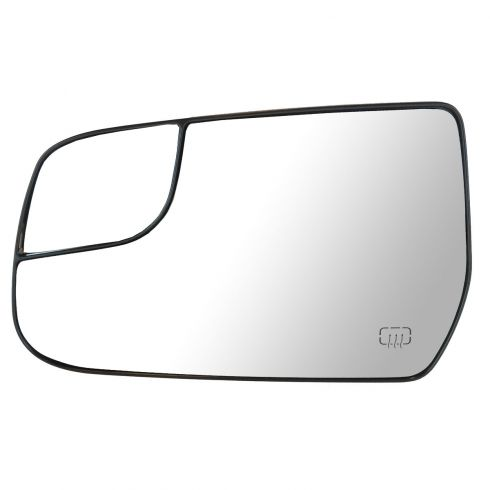 12-13 Chevy Equinox, GMC Terrain Power Heated Mirror Glass w/Backing Plate LH