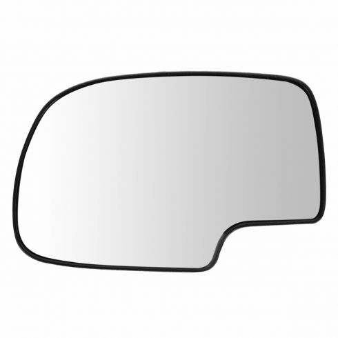 99-07 GM Full Size PU, SUV Mirror Glass (w/4 3/8 Diag) w/Backing Plate LH