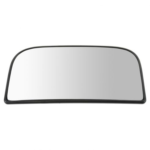 88-13 Chevy, GMC Pickup, SUV (w/Tow Mirror) Lower Convex Glass w/Backing Plate & Install Manual LH
