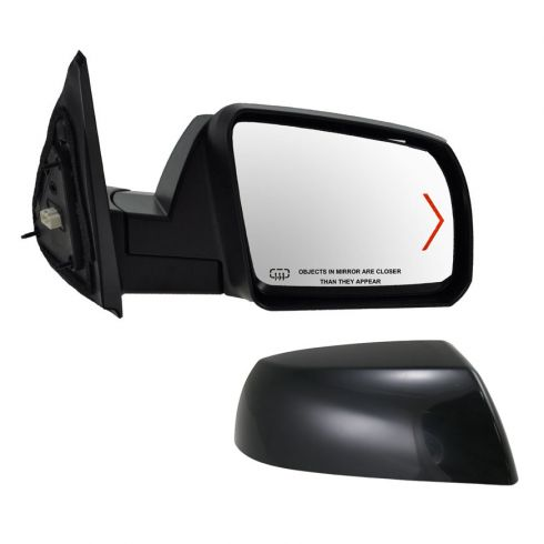 Mirror POWER HEATED with TURN SIGNAL and Smooth Black Cap Passenger Side