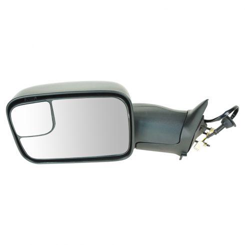 98-02 Dodge Ram PU Pwr Htd Tow Mirror w/Sup Brkt LH