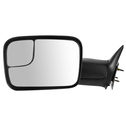 1994-02 Dodge Ram PU Manual Tow Mirror w/Brkt LH