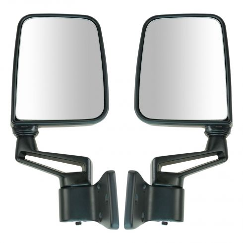 1987-02 Jeep Wrangler Mirror (Full and Half Doors) Manual Black Pair