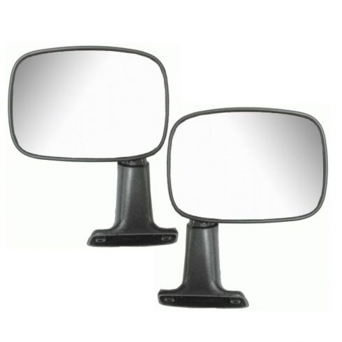 Manual Mirror Black Pair