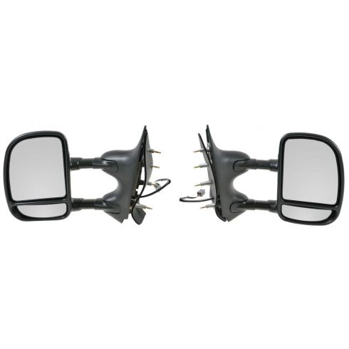 2002-08 Ford Van Dual Arm Telescopic Power Mirror Pair