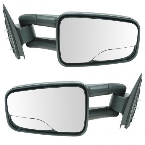 1999-04 Chevy Silverado GMC Sierra Dual Arm Manual Mirror Pair