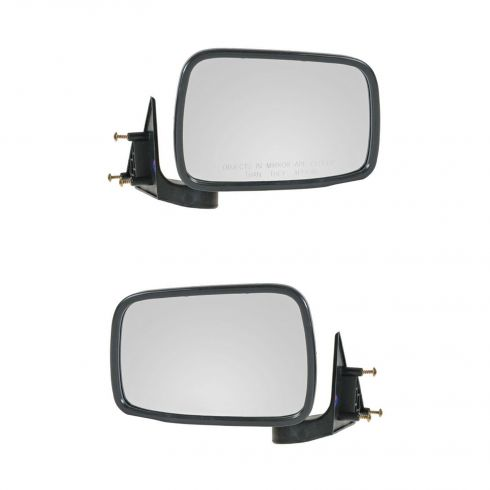 1986-93 Mazda Pickup Black Manual Mirror Pair