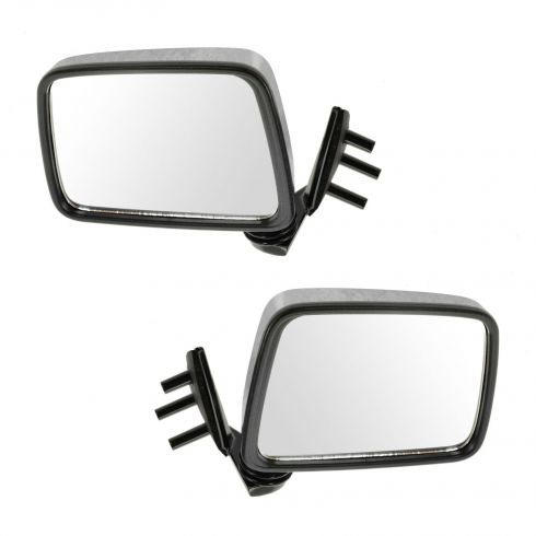 1986.5-97 Nissan Pickup Pathfinder Chrome Manual Mirror Pair