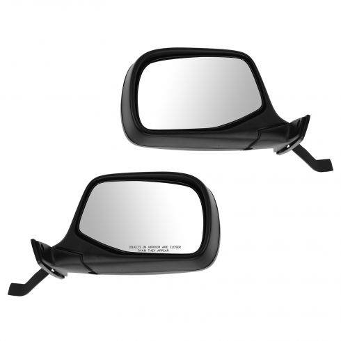 1992-97 Ford F Series Pickup Bronco Black Manual Mirror Pair