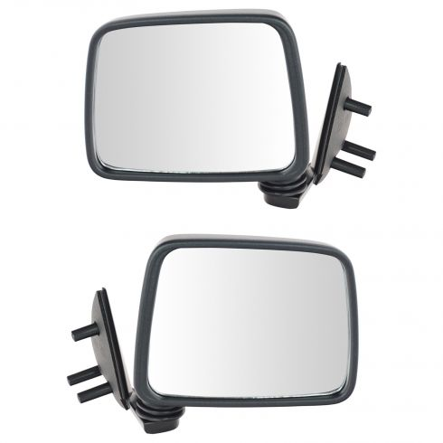 1986.5-97 Nissan Pickup Pathfinder Manual Mirror Pair Black