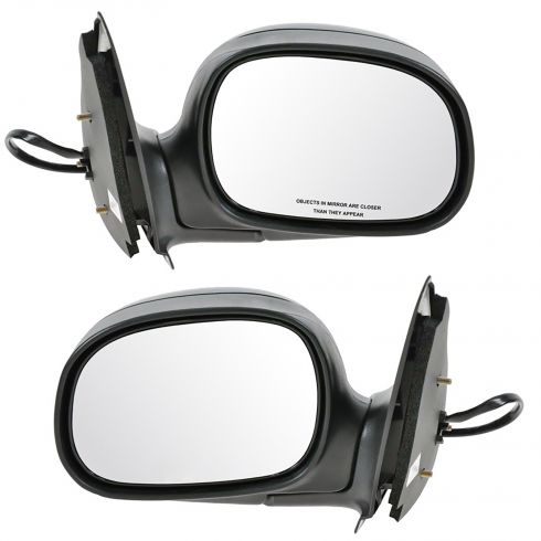1998-02 Ford F150 Mirror Power Black Pair