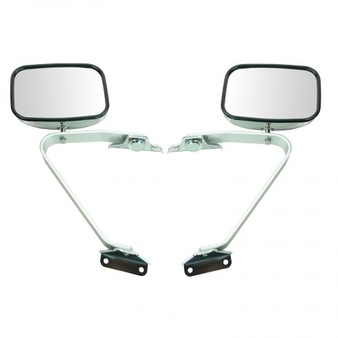 Ford Pickup Bronco Mirror Manual Swing Lock Chrome Pair