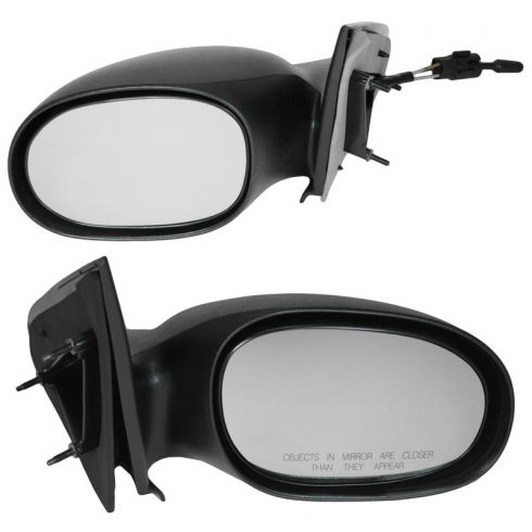 2000-05 Dodge Neon Mirror Manual Non Folding Pair