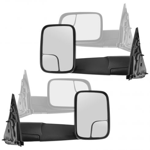 02-10 Dodge Pickup Trailer Tow Manual Mirror Pair