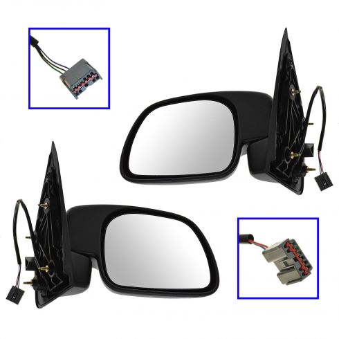 01-07 Ford F250SD F350SD; 01-03 F450SD F550SD Paddle Style Power Mirror Pair